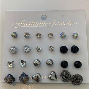 Jewelry - 12 studded Earrings